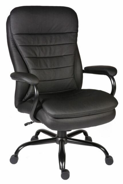 Goliath Black Bonded Leather Faced Executive Office Swival Heavy Duty Chair