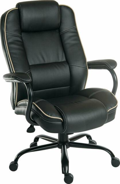 Goliath Duo Black Bonded Leather Faced Executive Swivel Computer Office Chair