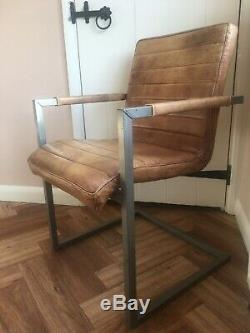 Gorgeous Vintage Leather Dining / Office Chair Barker and Stonehouse Titus