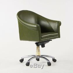 Green Leather Poltrona Frau Luca Scacchetti Sinan Office Desk Chair Mult Avail