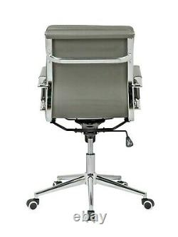 Grey Designer Soft Pad Director Executive Chair Computer Office Swivel