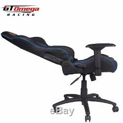 Gt Omega Pro Racing Gaming Office Chair Black Next Blue Leather Esport Seats Ak