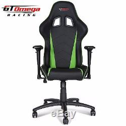 Gt Omega Pro Racing Gaming Office Chair Black Next Green Leather Esport Seat Ak