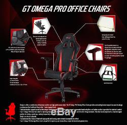 Gt Omega Pro Racing Gaming Office Chair Black Next Purple Leather Esport Seat Ak