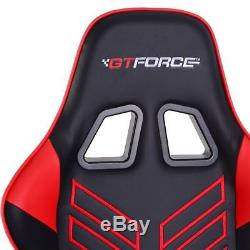 Gtforce Pro St Red Reclining Sports Racing Gaming Office Desk Pc Leather Chair