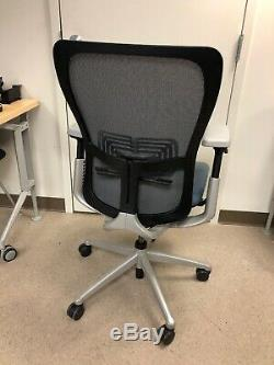 HAWORTH ZODY task office chair Fully Loaded Blue Leather Seat