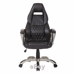 HOMCOM Computer Office Racing Seat Executive Chair Faux Leather PU Chairs