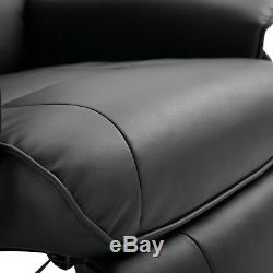 HOMCOM Ergonomic Office Recliner Sofa Chair PU Leather Plush Armchair Lounger