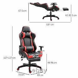 HOMCOM Gaming Chair Office Chesterfield Swivel Executive High Back PU Leather