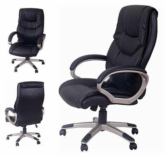 Homcom Home Gaming Office Chair Pu Leather Swivel High Back Black Heavy Duty