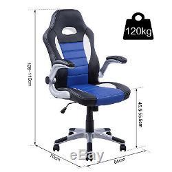 HOMCOM Office Chair Gaming Racing Swivel Bucket Computer Chair PU Leather