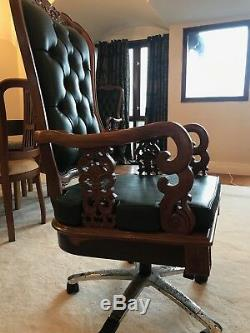 Hand Carved Chairs on wheel