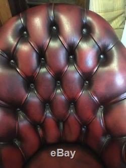 Handsome Chesterfield Oxblood Leather Directors Captains Executive Office Chair