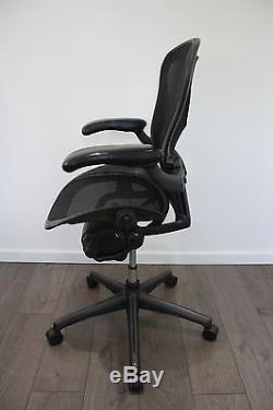 Herman Miller Aeron Chairs / Fully Loaded / Size B / REAL leather armrests