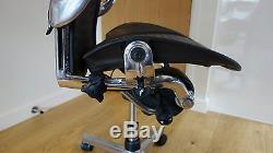 Herman Miller Aeron Chrome Polished Aluminium Office Chair Fully Loaded Leather