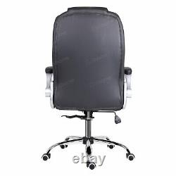 High Back PU Leather Computer Home Office Game Chair Executive Swivel Recliner