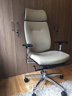 High Performance Ergonomics Cream Eco Leather Executive Chair