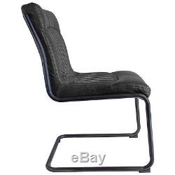Hudson Living CAPRI Contemporary dining office top grain Black LEATHER CHAIR