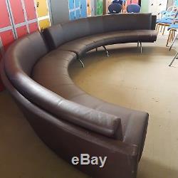 Huge real leather Moroso nightclub reception sofa by Rodolfo Dordoni in brown