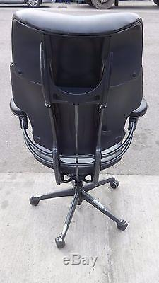 Humanscale Executive Leather Freedom High Back Chair With Head Rest