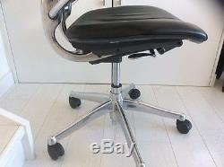 Humanscale Freedom Black Leather/Chrome Office Chair With Headrest