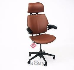 Humanscale Freedom Hi Back Chair New Brown Leather