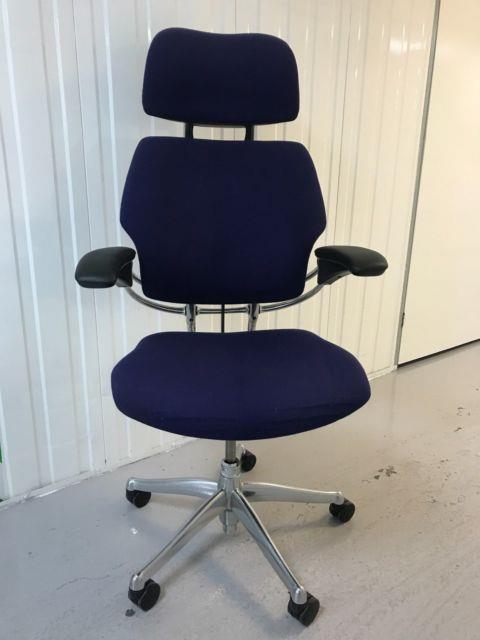 Humanscale Freedom Task Chair With Headrest In Chrome Finish