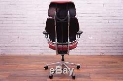Humanscale Freedom Task Chair With Headrest in Red Leather