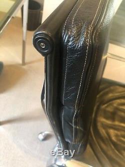 ICF Eames EA217 pad chair Black analine Italian Premium leather Genuine