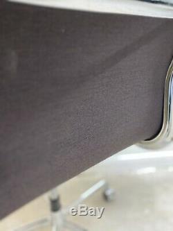 ICF Eames EA219 BROWN Soft Pad Leather, Castor Base, CHROME FRAME