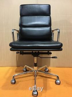 ICF Eames EA219 Black Soft Pad Leather