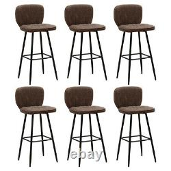 Industrial 2Pcs Bar Stool Kitchen Breakfast Office Counter Faux Leather Pub Home