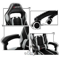 JL Comfurni Executive Gaming Racing Home Office PU Recliner Computer Desk Chair