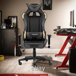 JL Comfurni Executive Gaming Racing Office Chair Swivel Home Computer Desk Chair
