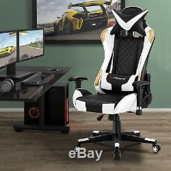 JL Comfurni Gaming Chair Recliner Swivel Home Racing Computer Desk Office Chair