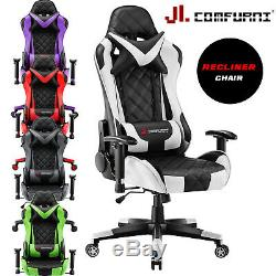 JL Comfurni Luxury Office Chair Swivel Recliner Gaming Computer Home Desk Chair