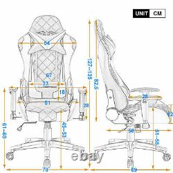 JL Comfurni Racing Gaming Chair Ergonomic Recliner Leather Computer Office Chair