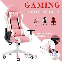 JL Comfurni Racing Gaming Chair Home Computer Desk Office Chair Adjustable