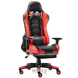 JL Comfurni Racing Gaming Computer Office Chair Swivel Recliner Home Chair