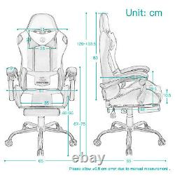JL Comfurni Racing Gaming Home Office Chair Swivel Sports Computer Desk Recliner