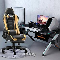 Jl Comfurni Gaming Chair Leather Recliner Home Office Chair Computer Desk Swivel