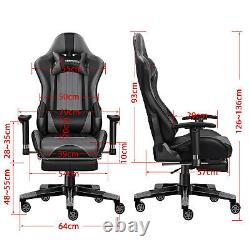 Jl Comfurni Gaming Chair Reclining With Footrest Home Computer Desk Office Chair