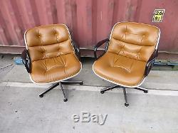Joblot 2x ORIGINAL KNOLL CHARLES POLLOCK EXECUTIVE CHAIR Swivel Office with LABELS