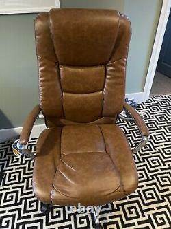John Lewis Abraham Tan Leather Office Chair