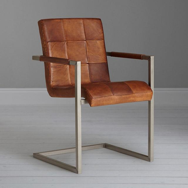 John Lewis Classico Leather Office/dining Chair, Tan Rrp £379
