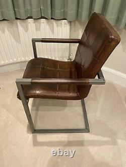John Lewis Classico Leather Office / Dining Chair, Tan, RRP £379