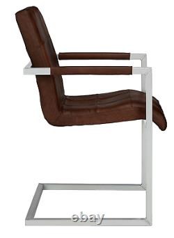 John Lewis & Partners Classico Leather Office/Dining Chair, Tan