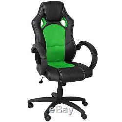 K&Co LUXURY EXECUTIVE OFFICE CHAIR RACING CAR COMPUTER RECLINING GAMING LEATHER