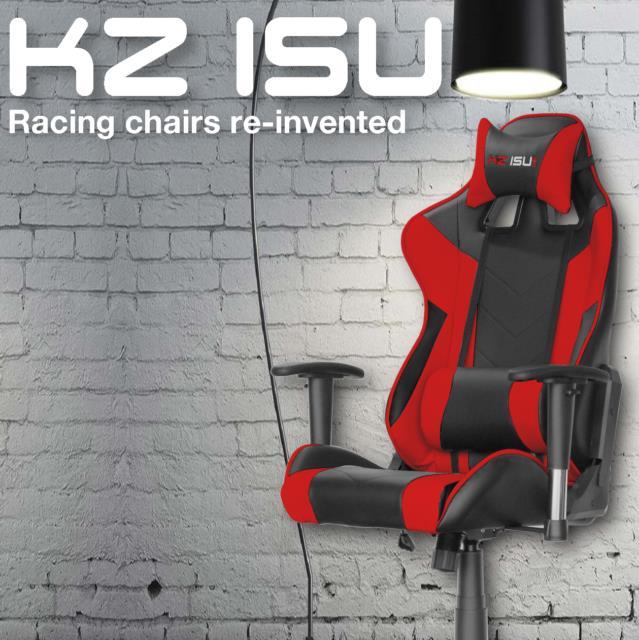 Kz Isu Executive Racing Chair Gaming Office Adjustable Recliner Leather Swivel