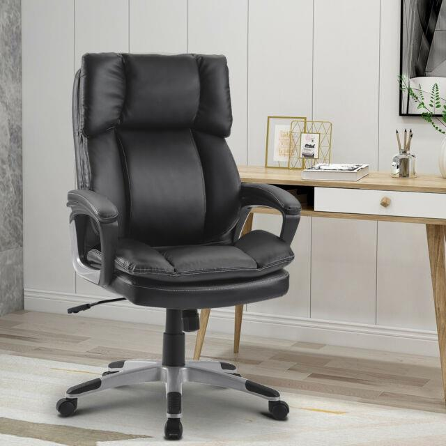 Large Computer Desk Chair Executive Office Chair Swivel Adjustable High Black Uk